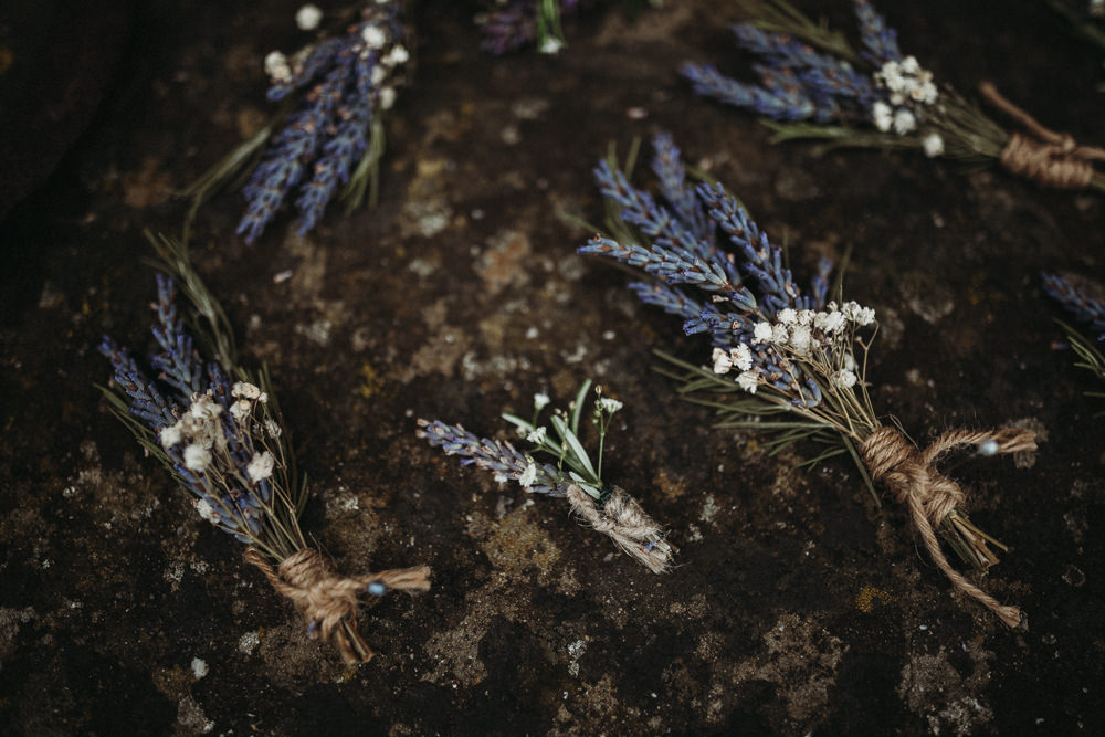 Lavender Buttonhole Flowers Horsley Hale Farm Wedding Thyme Lane Photography