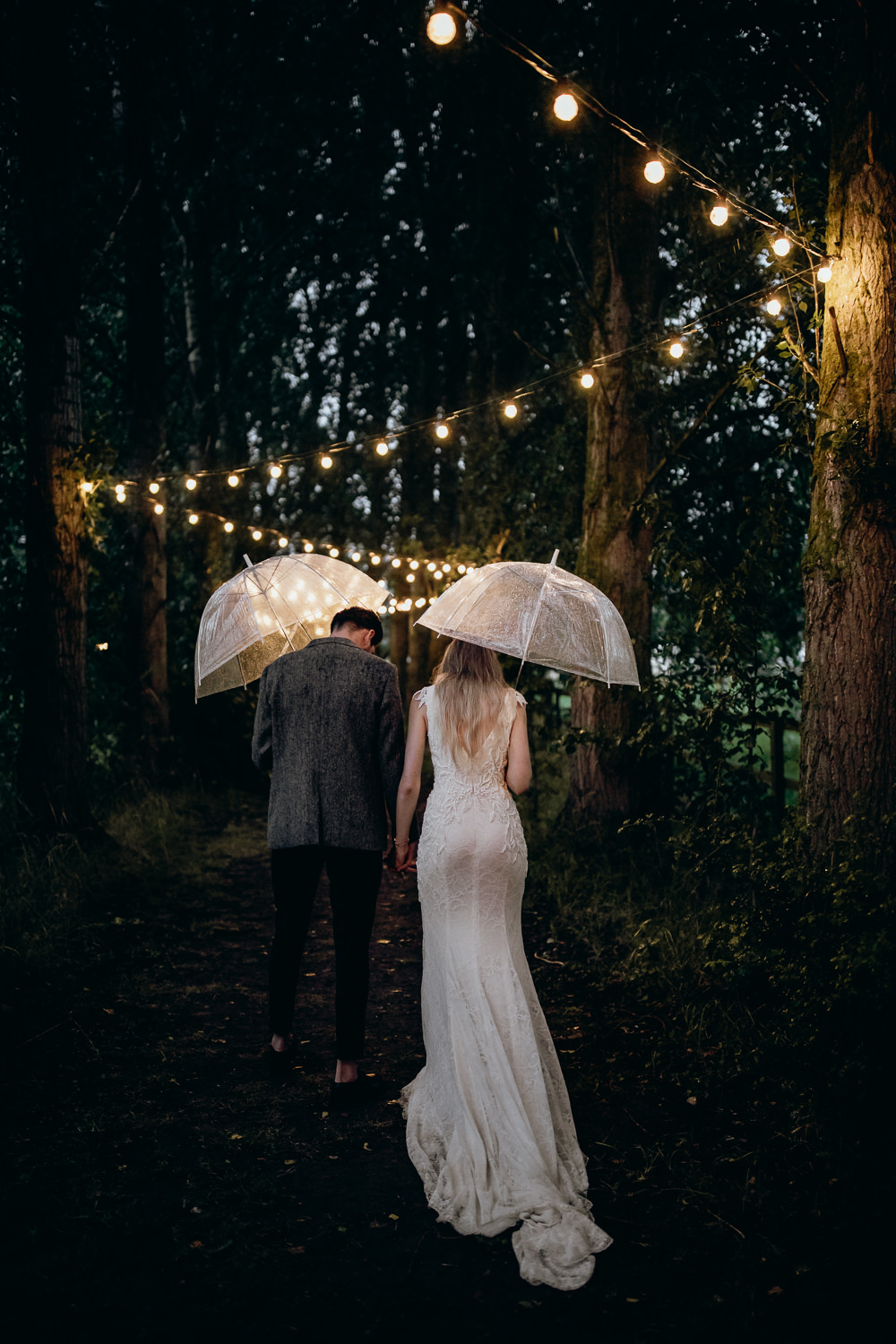 Horsley Hale Farm Wedding Thyme Lane Photography Rainy Rain Umbrella