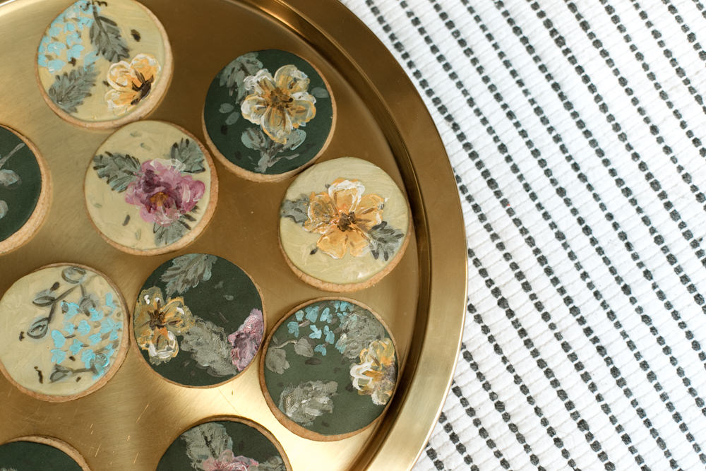Floral Cookies Painted Moroccan Wedding Ideas Emma Louise Photography