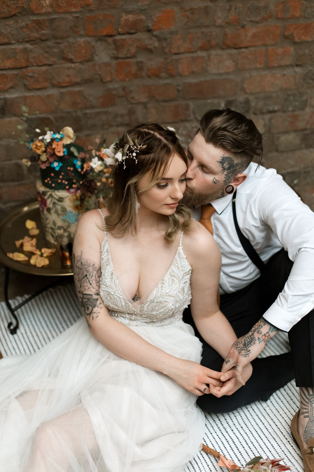 Bride Bridal Hair Style Flowers Crown Vine Accessory Moroccan Wedding Ideas Emma Louise Photography