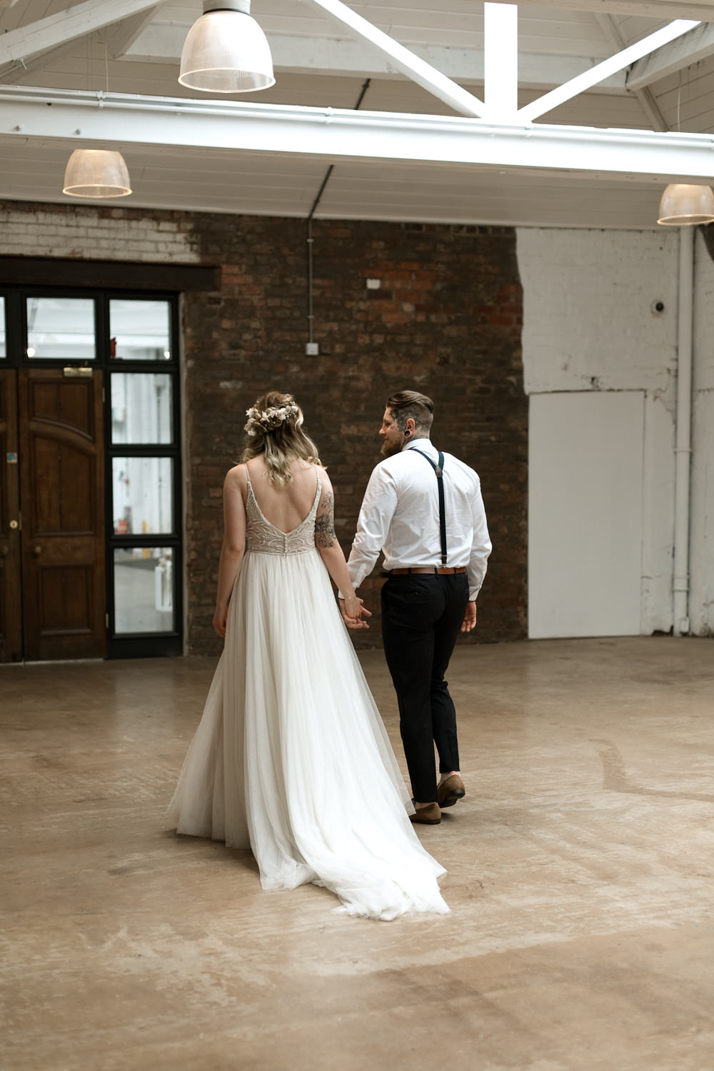Dress Gown Bride Bridal Maggie Sottero Floaty Tulle Beaded Straps Train Moroccan Wedding Ideas Emma Louise Photography