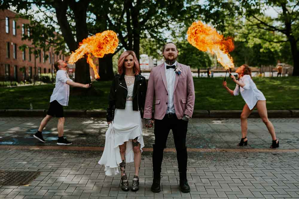 Fire Breathers Entertainment Neon Sign Wedding Ideas State Of Love and Trust Photography