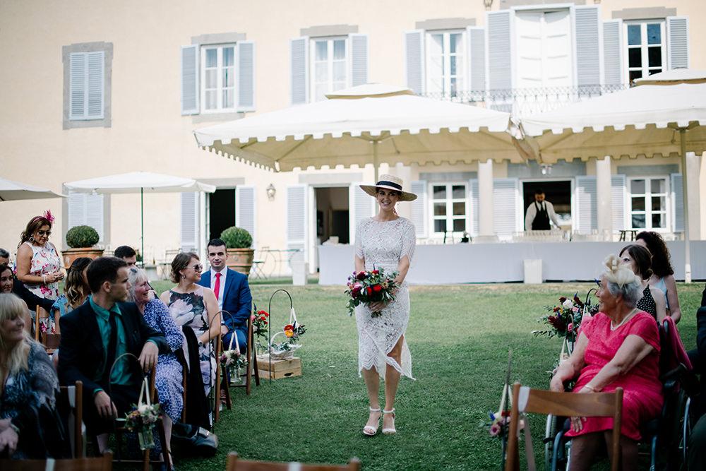 Bridesmaid Bridesmaids Dress Dresses Boater Hats White Tuscany Wedding Lelia Scarfiotti