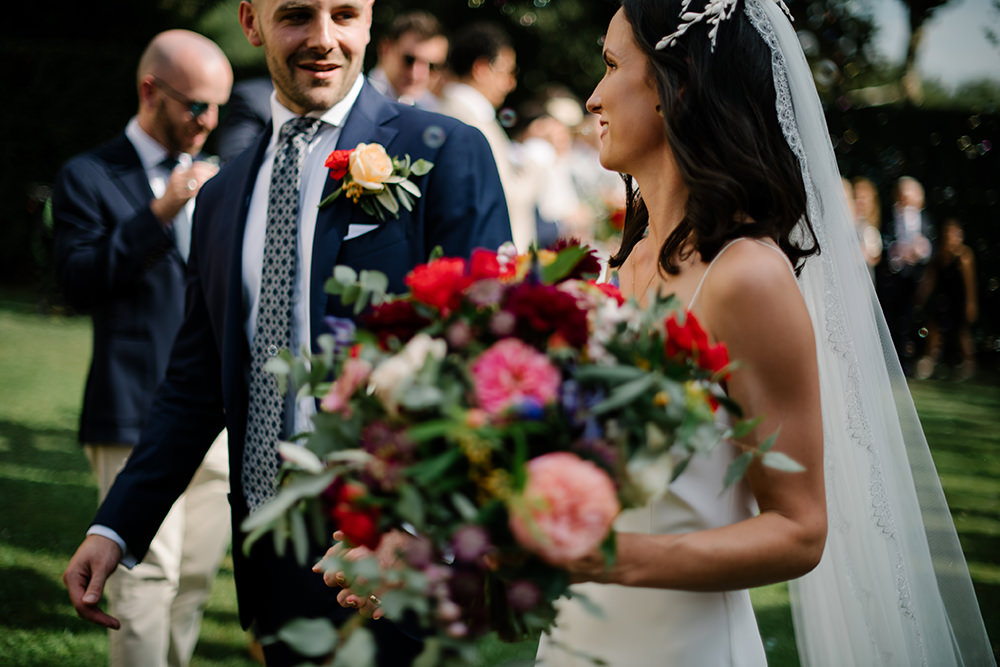 Groom Suit Blue Floral Tie Tuscany Wedding Lelia Scarfiotti