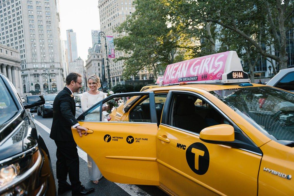 Cab Taxi Transport Brooklyn Elopement Everly Studios