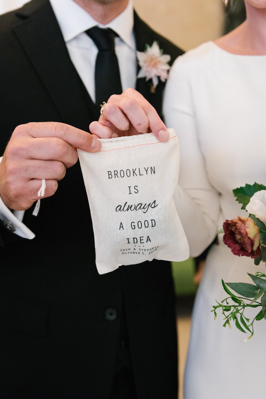 Fabric Bag Favour Favor Brooklyn Elopement Everly Studios