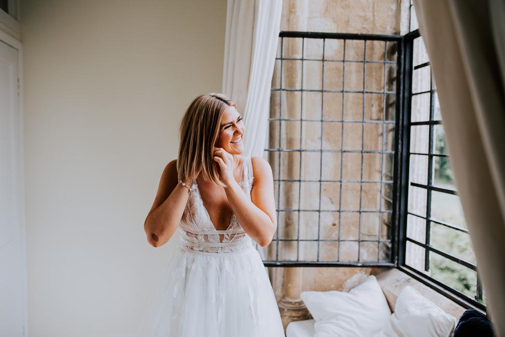 Short Hair Bob Bride Bridal Butley Priory Wedding Sally Rawlins Photography