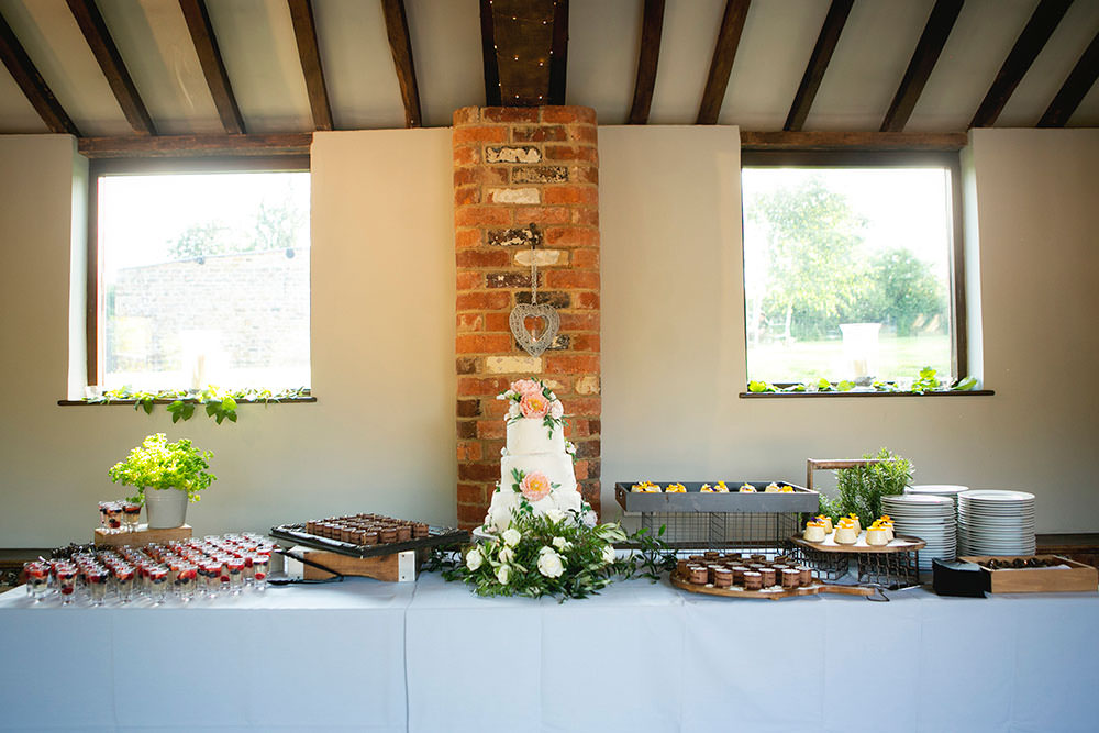 Cake Dessert Table Countryside Barn Wedding Katrina Matthews Photography
