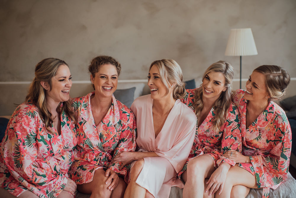 Bride Bridal Bridesmaids Dressing Gowns Robes France Destination Wedding The Shannons Photography