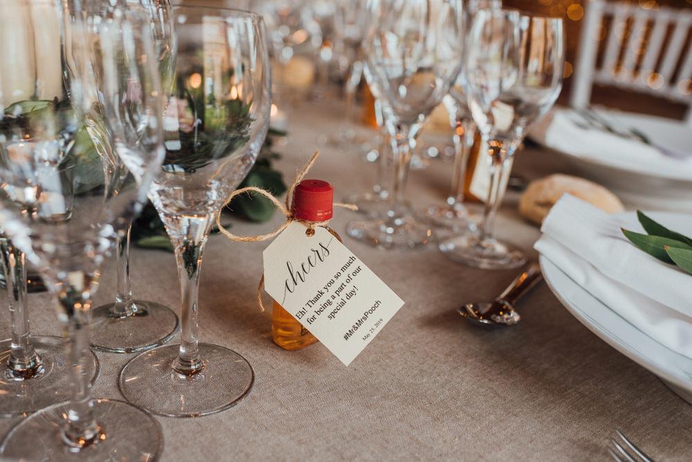 Mini Drink Bottle Favours Favors France Destination Wedding The Shannons Photography