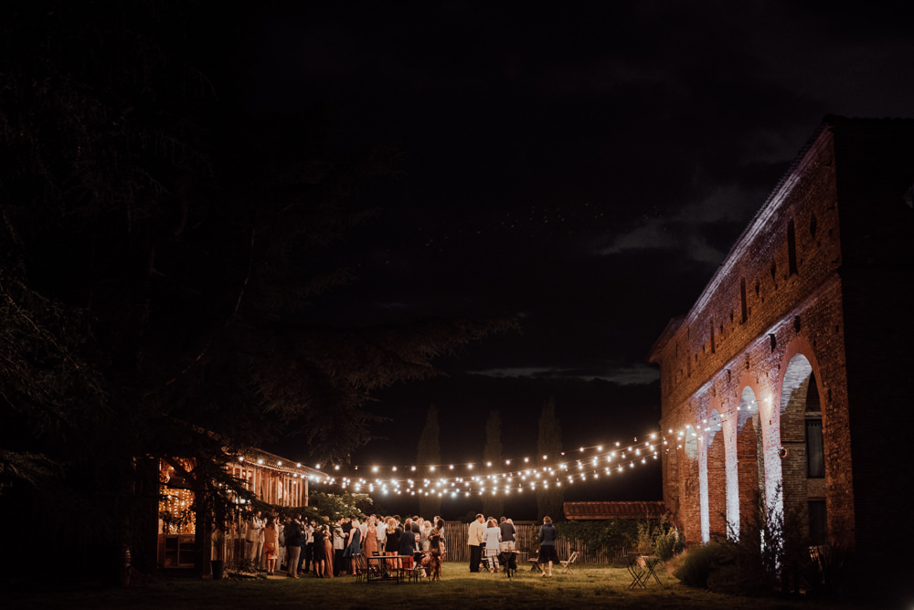 Featoon Lights Outdoors Outside Canopy France Destination Wedding The Shannons Photography