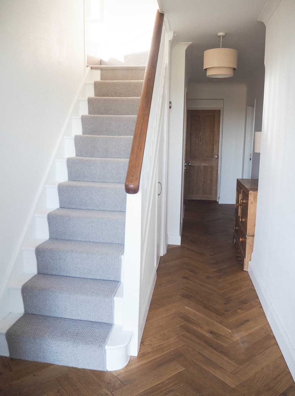 Hallway Renovation In A 1930S Art Deco House Whimsical   Carpet For Stairs And Hallway   Hardwood   Stylish   Upstairs   Popular   Hollywood Style