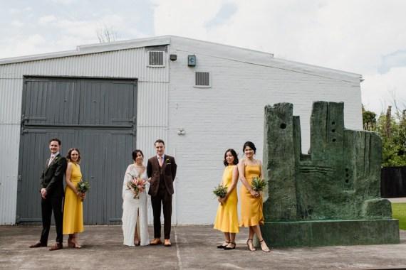 Bridesmaids Bridesmaid Dress Dresses Mustard Yellow Henry Moore Wedding Ellie Gillard Photography
