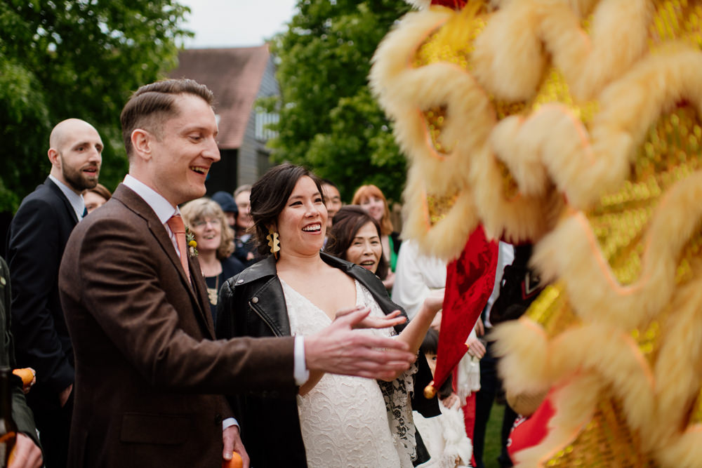 Chinese Lion Dance Henry Moore Wedding Ellie Gillard Photography