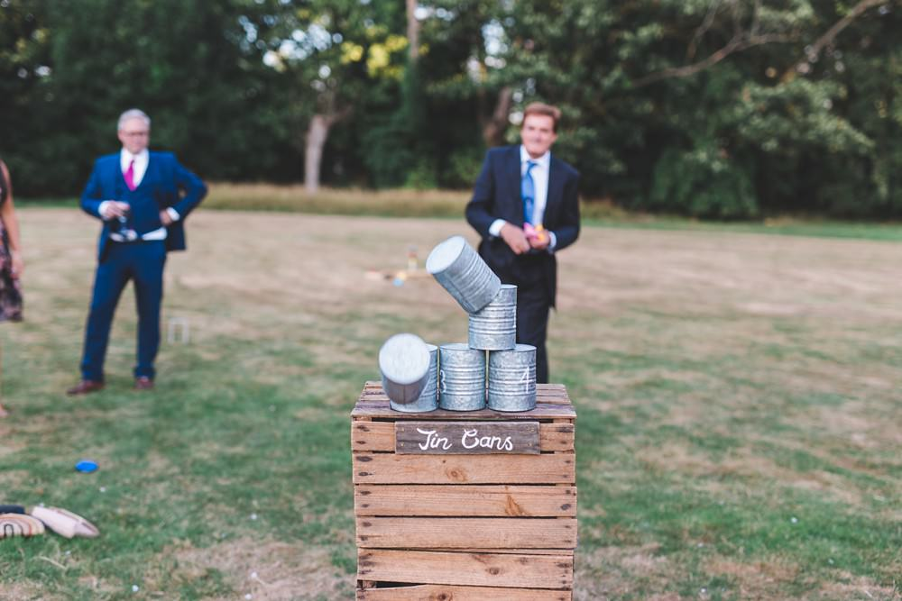 Tin Can Game Letchworth Wedding Milkbottle Photography
