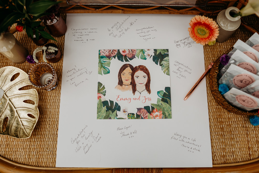 Jungle Palm Leaf Stationery Guest Book Sign Tropical Wedding Ideas When Charlie Met Hannah