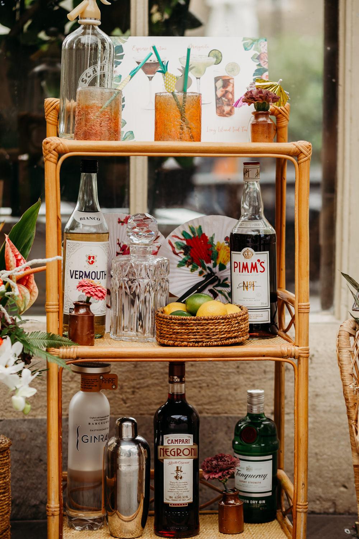 Drinks Trolley Tropical Wedding Ideas When Charlie Met Hannah