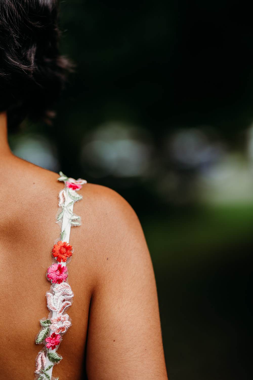 Flower Floral Strap Dress Bride Bridal Tropical Wedding Ideas When Charlie Met Hannah