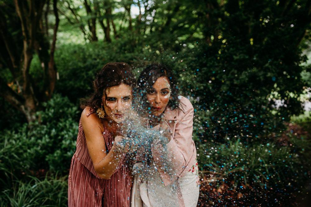 Glitter Tropical Wedding Ideas When Charlie Met Hannah
