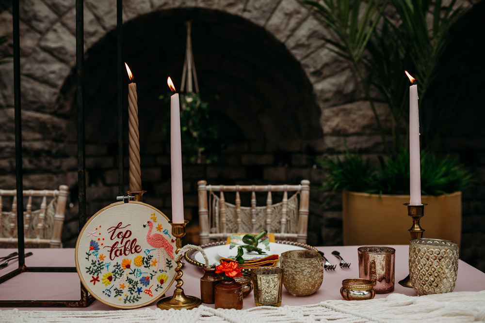 Table Decor Candles Embroidery Hoop Table Name Number Tropical Wedding Ideas When Charlie Met Hannah