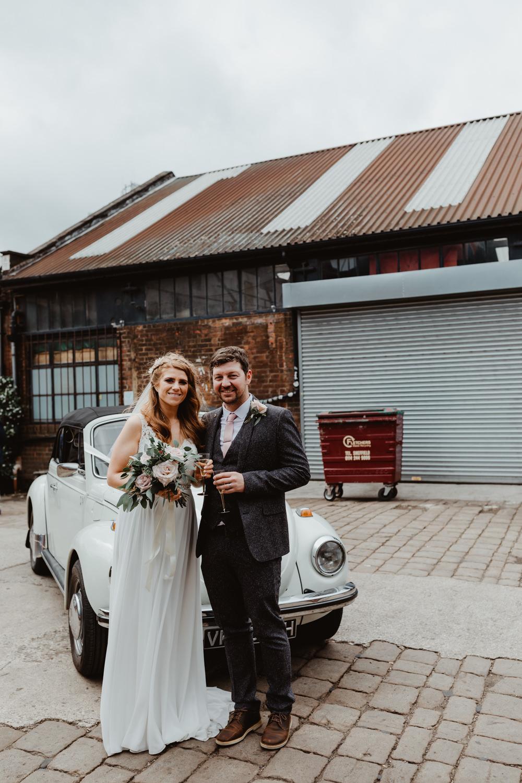 VW Beetle Transport Car 92 Burton Road Wedding Stevie Jay Photography