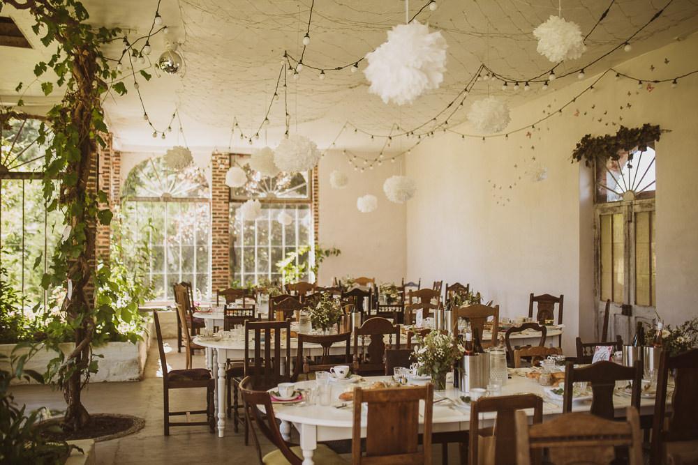 Pom Poms Fairy Lights Decor Decoration Escape To The Chateau Wedding The Springles