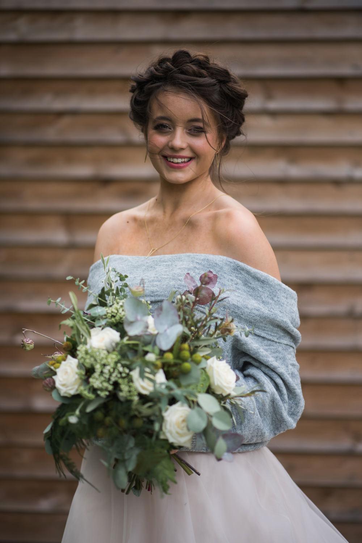 Bride Bridal Hair Plaid Braid Halo Crown Minimalist Wedding Ideas Nicola Belson Photography