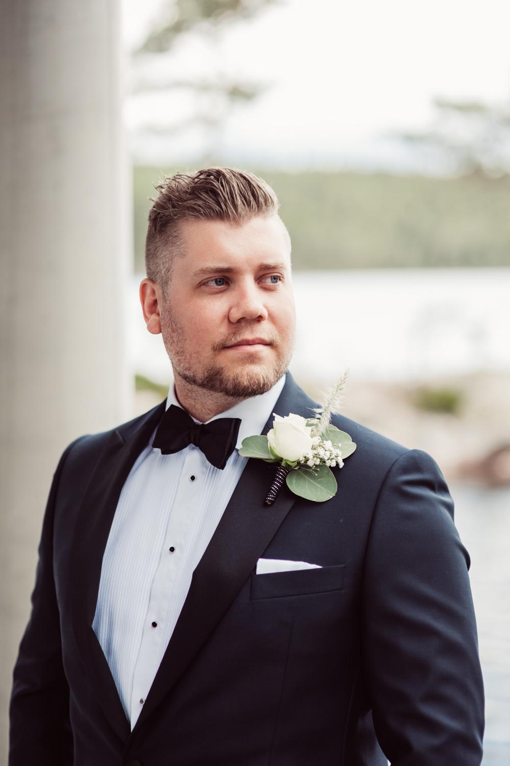 Groom Suit Tux Bow Tie Norway Wedding Maximilian Photography