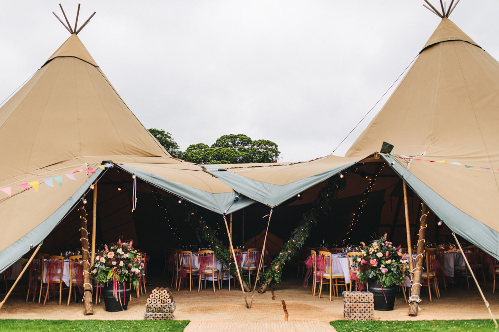 Tipi Reception Venue Outbuildings Wedding Jessica O'Shaughnessy Photography