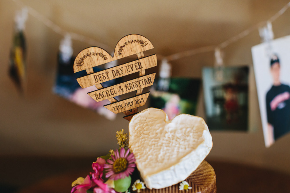 Heart Cake Topper Outbuildings Wedding Jessica O'Shaughnessy Photography