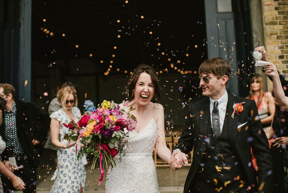 Confetti Throw Riverside London Wedding Ellie Gillard Photography