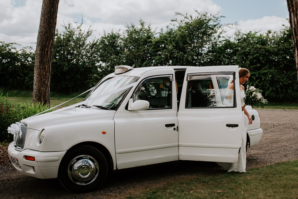 Taxi Cab Transport Tipi Hertfordshire Wedding Michelle Cordner Photography