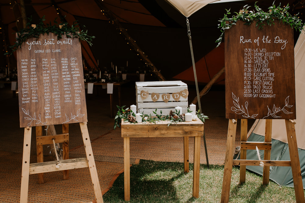 Decor Decoration Signs Signage Sign Tipi Hertfordshire Wedding Michelle Cordner Photography