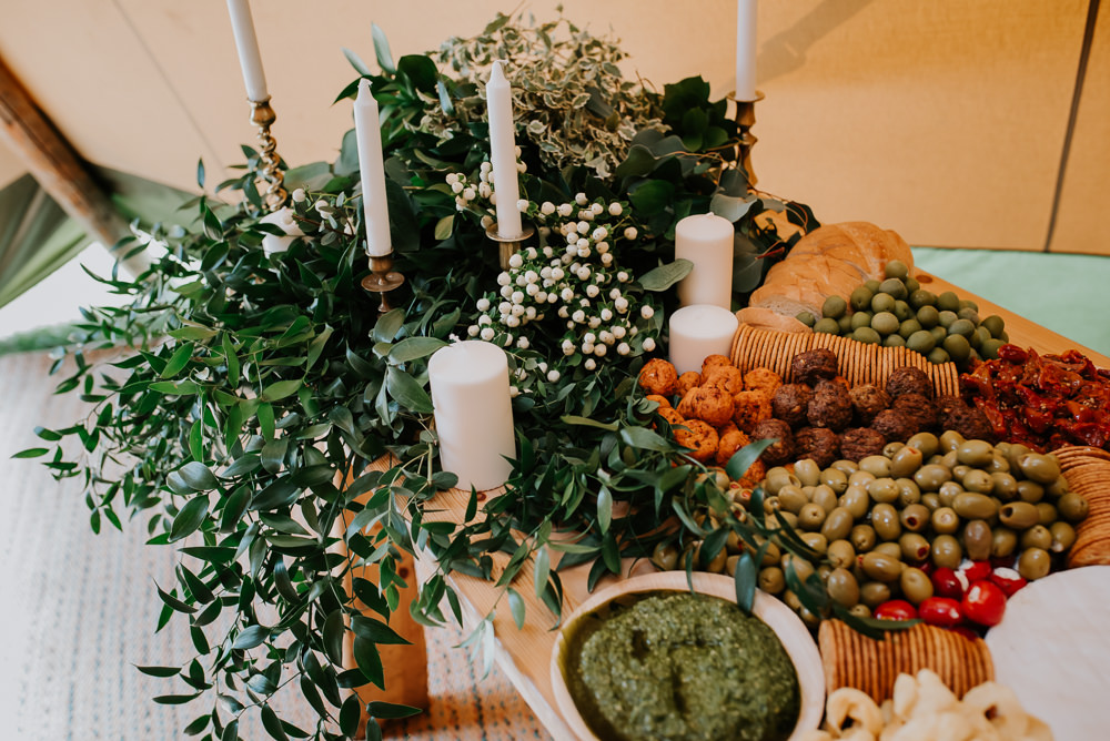 Grazing Platter Sharing Food Buffet Table Tipi Hertfordshire Wedding Michelle Cordner Photography