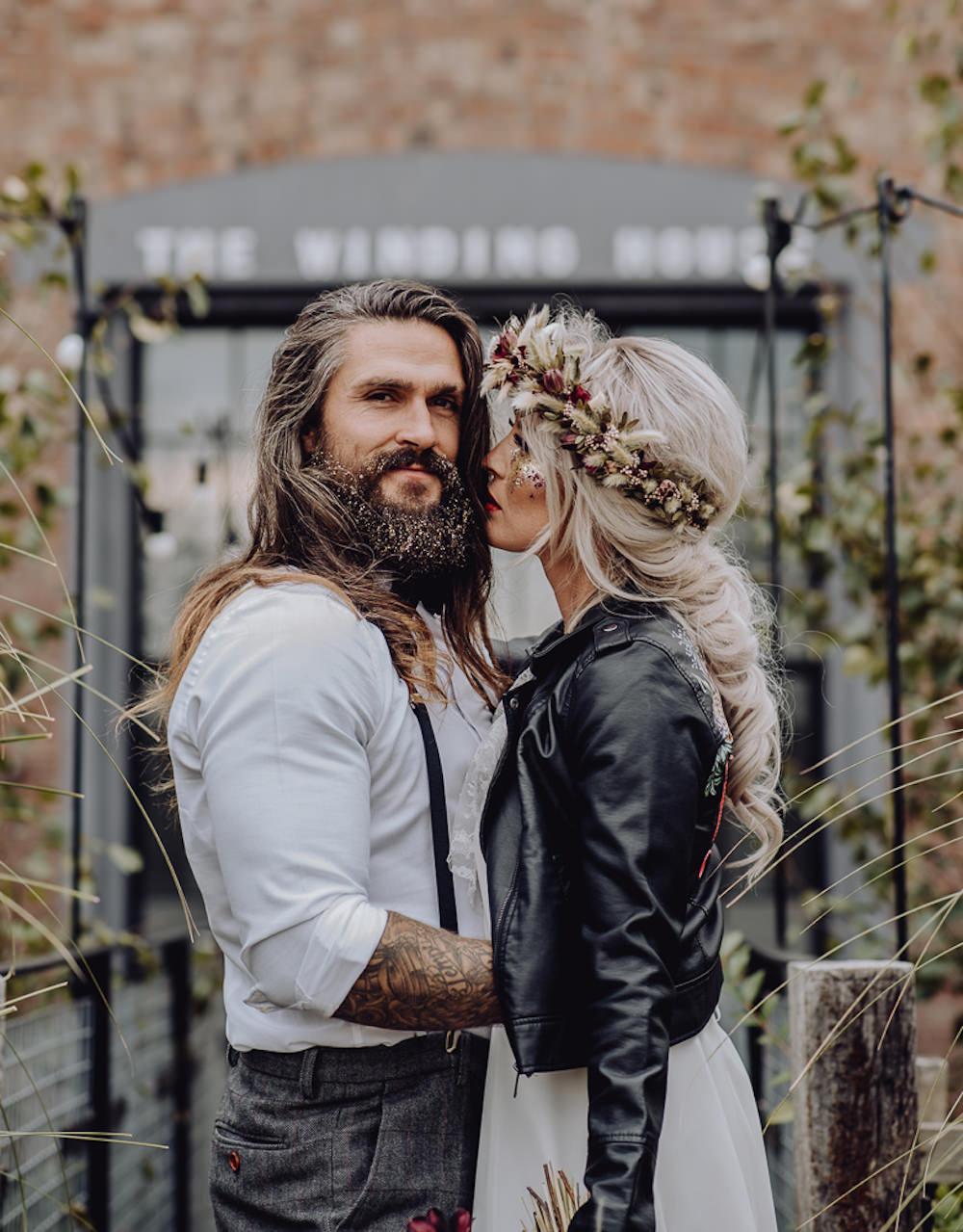 Unconventional Wedding Ideas Pierra G Photography Bride Bridal Hair Style Up Do Plait Braid Flower Crown