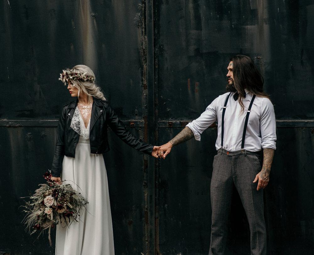 Groom Braces Shirt Chinos Unconventional Wedding Ideas Pierra G Photography