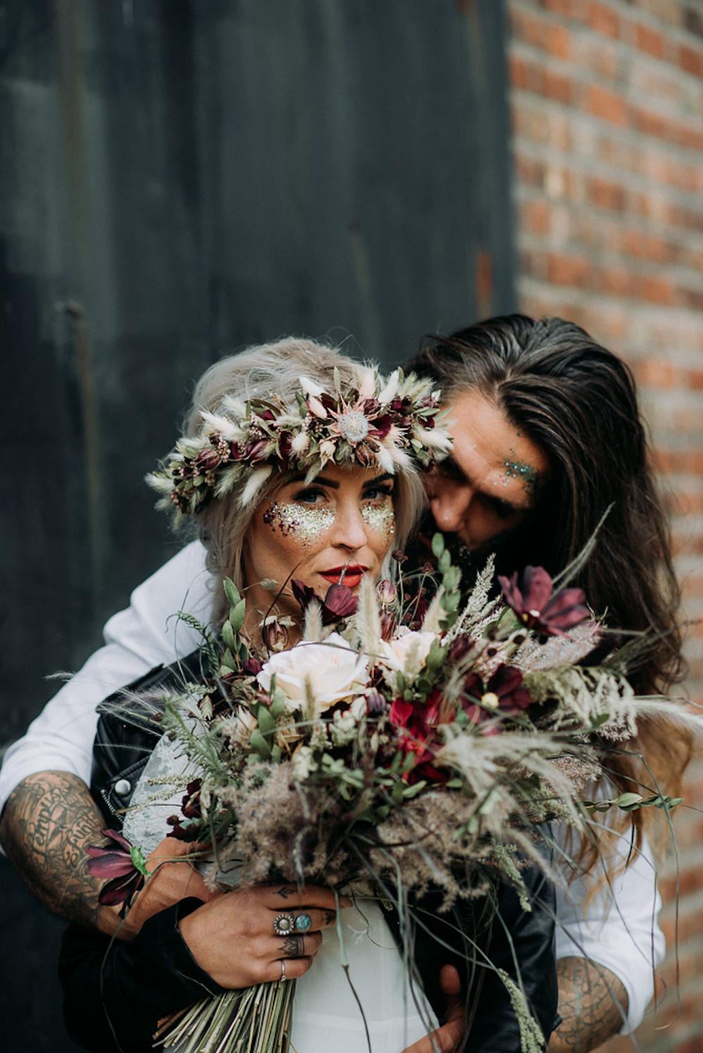 Glitter Make Up Bride Bridal Unconventional Wedding Ideas Pierra G Photography