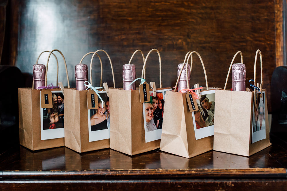 Bridesmaid Gift Present Bags Barff Country House Wedding Sarah Beth Photo