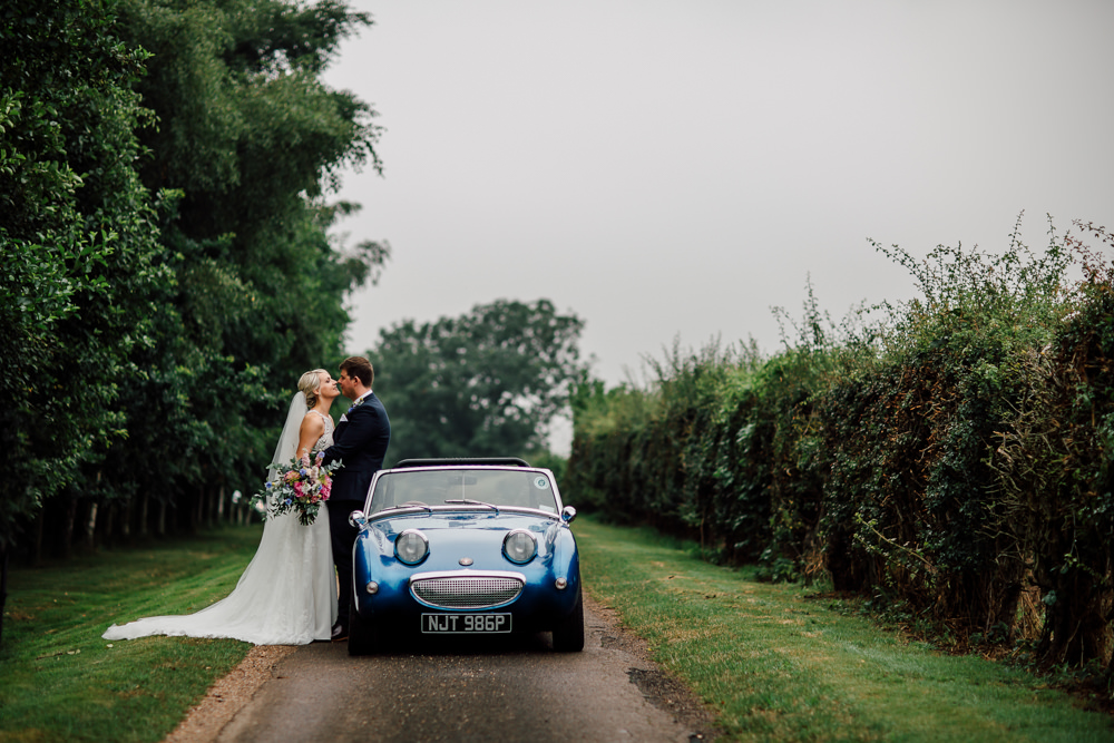 Convertible Car Transport Classic Barff Country House Wedding Sarah Beth Photo