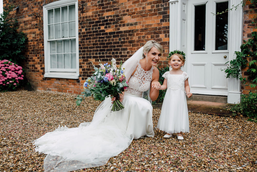 Flower Girl Barff Country House Wedding Sarah Beth Photo