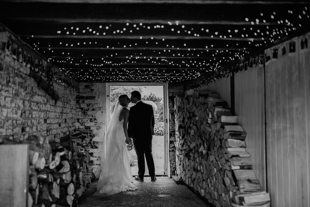 Fairy Light Canopy Barff Country House Wedding Sarah Beth Photo