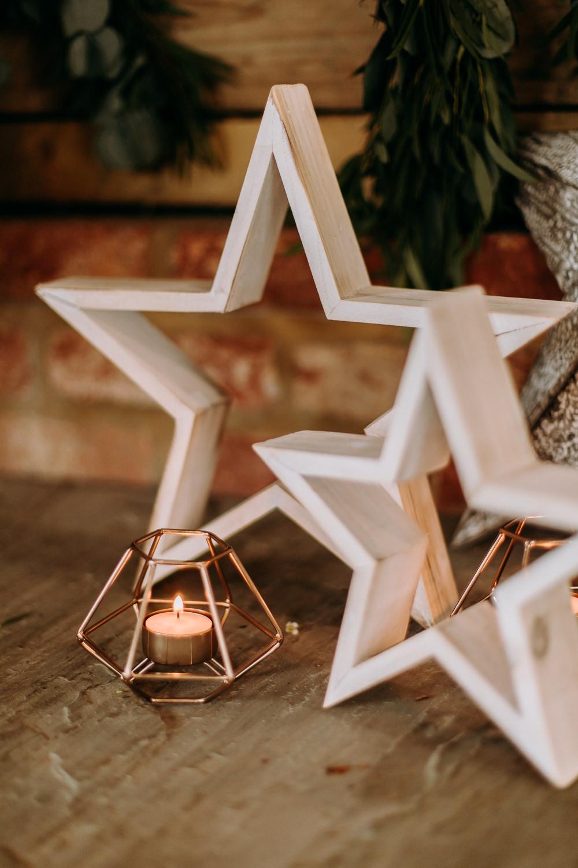 Star Starry Candles Tea Lights Celestial Wedding Ideas Christine Thirdwheeling