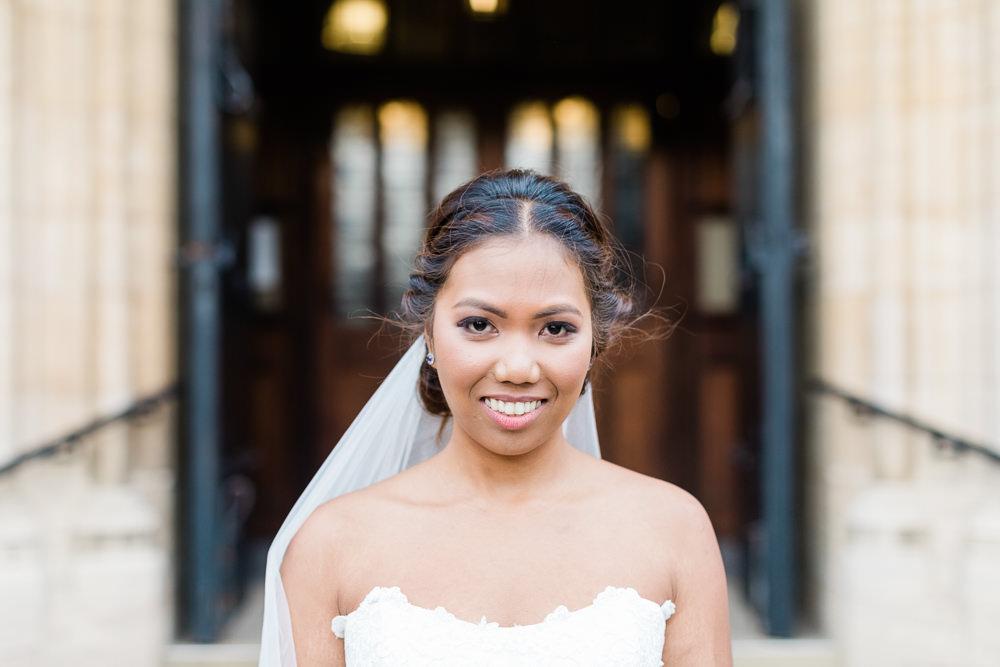 Bride Bridal Make Up Veil Hair Gate Street Barn Wedding Camilla J Hards