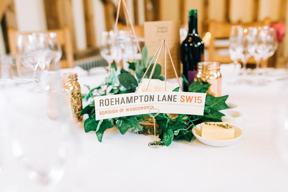 Centrepiece Table Flowers Decor Terrarium Place Name Table Number Gate Street Barn Wedding Camilla J Hards