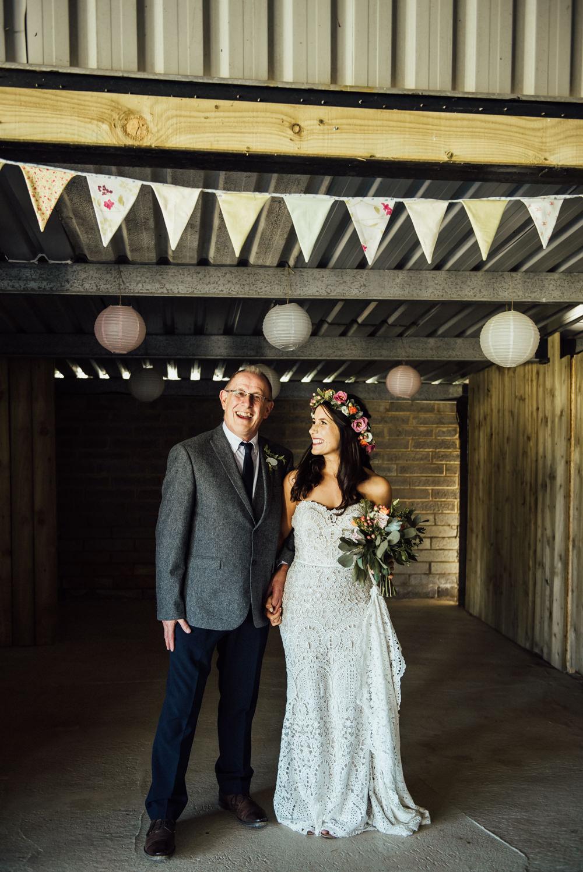 Bride Bridal Dress Gown Lace Strapless Train Long Furlong Farm Wedding Michelle Wood Photographer
