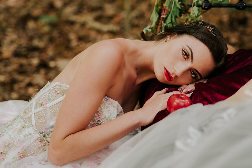Bride Bridal Make Up Snow White Wedding Inspiration Joasis Photography