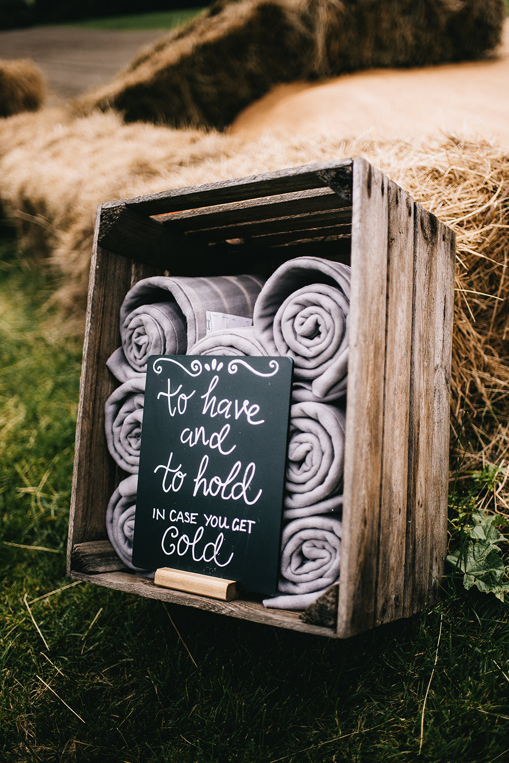 Blanket Box Wooden Crate Farm Wedding Alex Tenters Photography