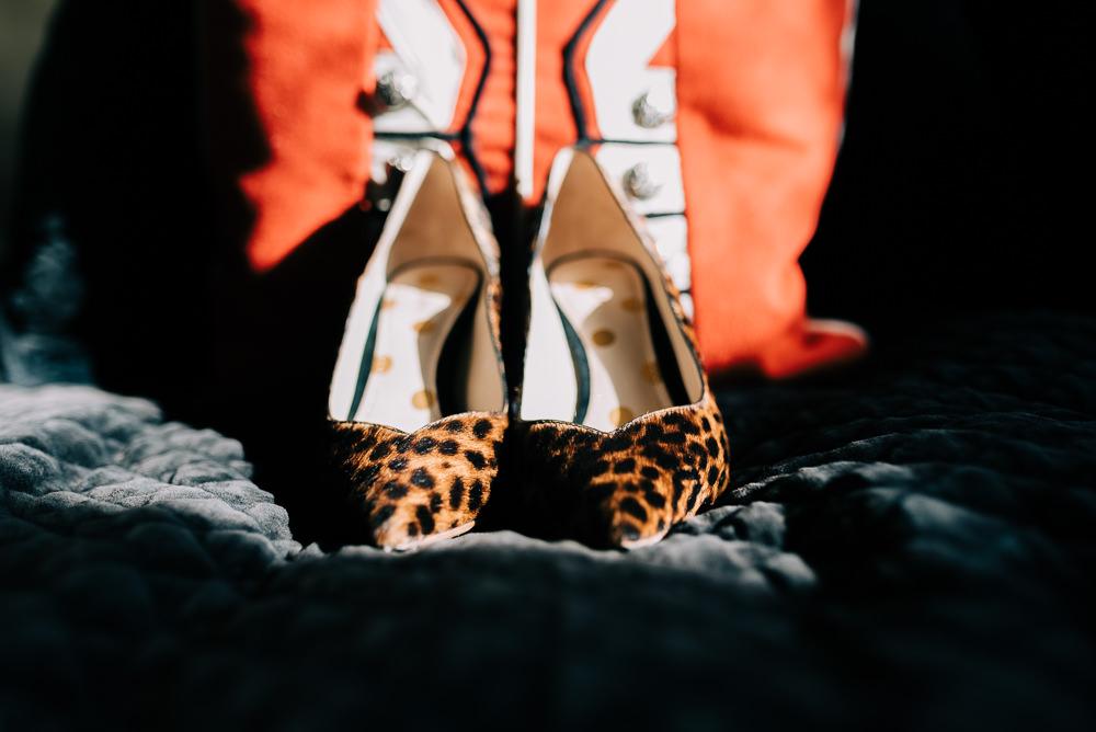Leopard Print Shoes Bride Bridal Glazebrook House Wedding Harriet Bird Photography