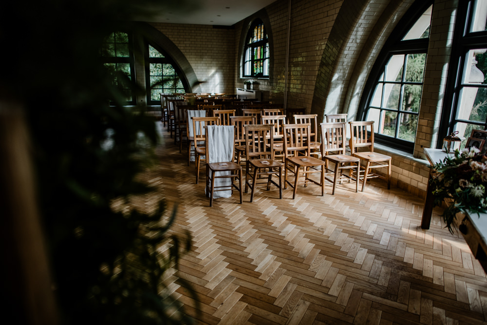 Pumping House Ceremony Indie Autumn Wedding Kazooieloki Photography