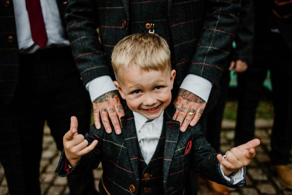 Page Boy Suit Indie Autumn Wedding Kazooieloki Photography